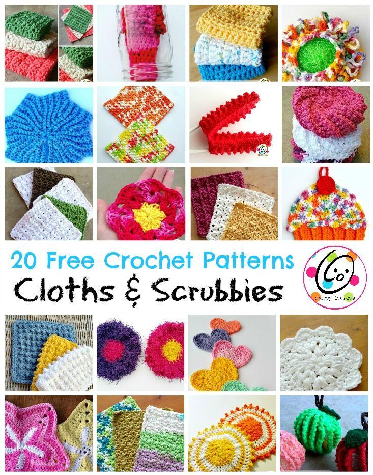 Top Picks: 20 free crochet cloth and scrubby patterns | Tejido ...