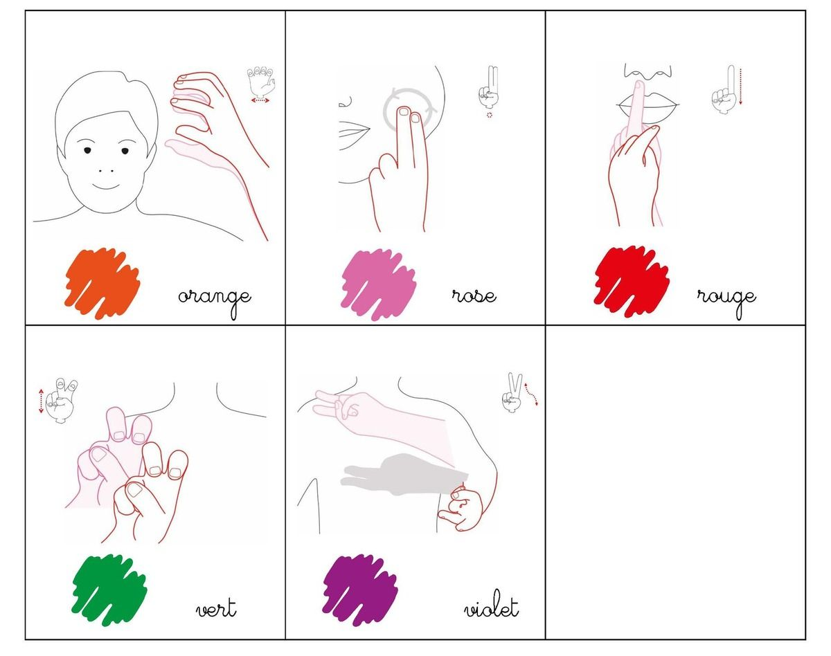 m233mo les couleurs lsf makaton pinterest french