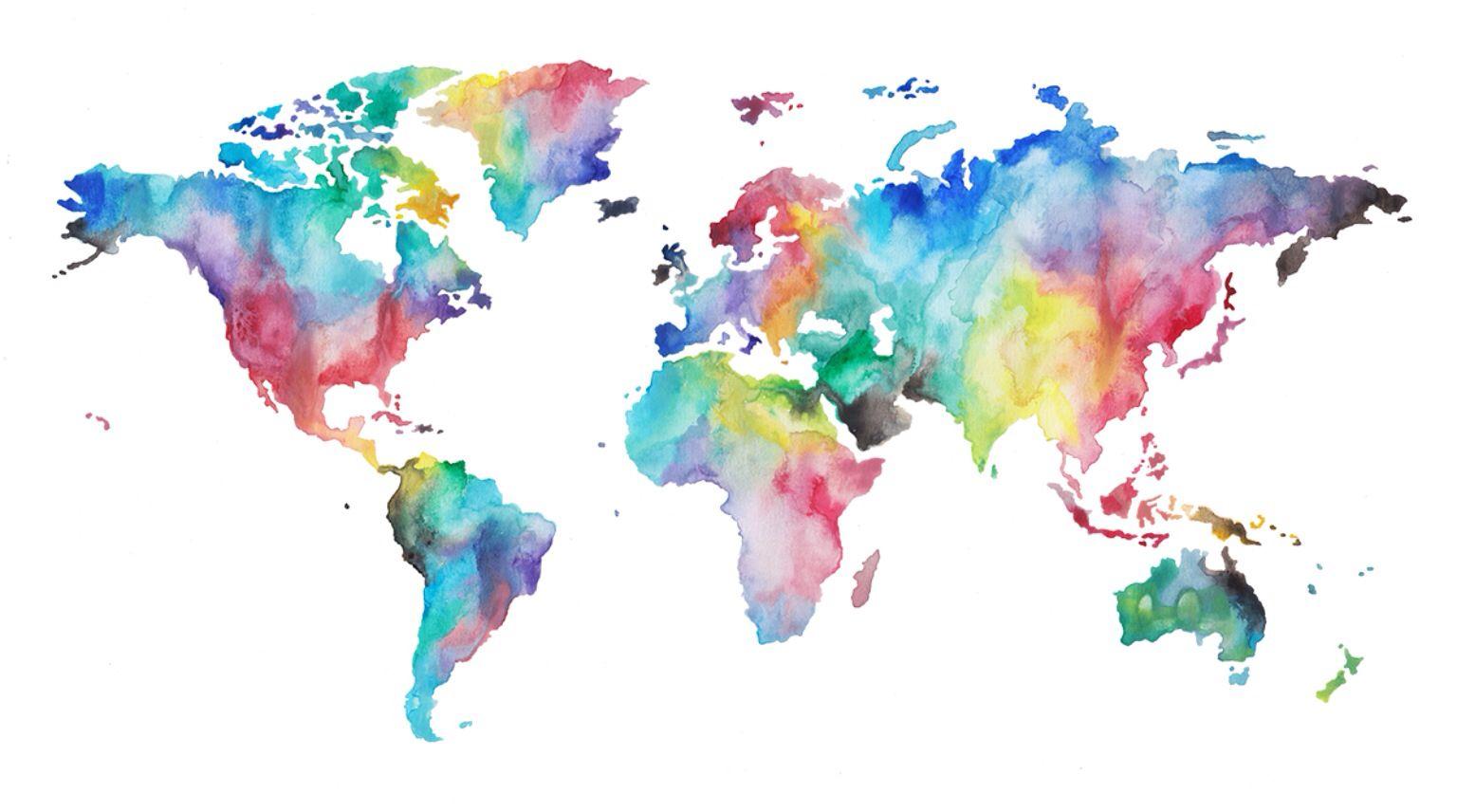Carte du monde DIY Pinterest