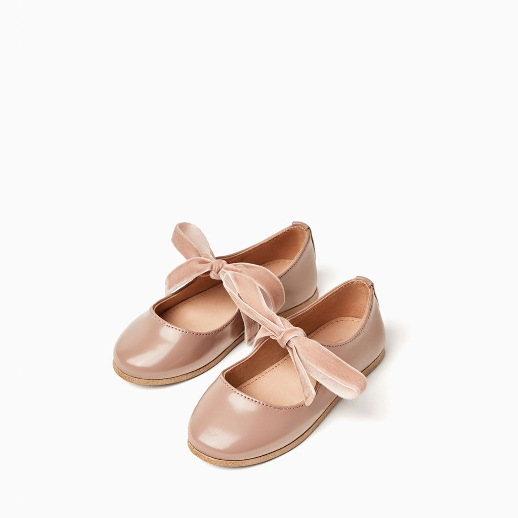 VELVET RIBBON BALLERINAS SHOES AND BAGS BABY GIRL | 3 months