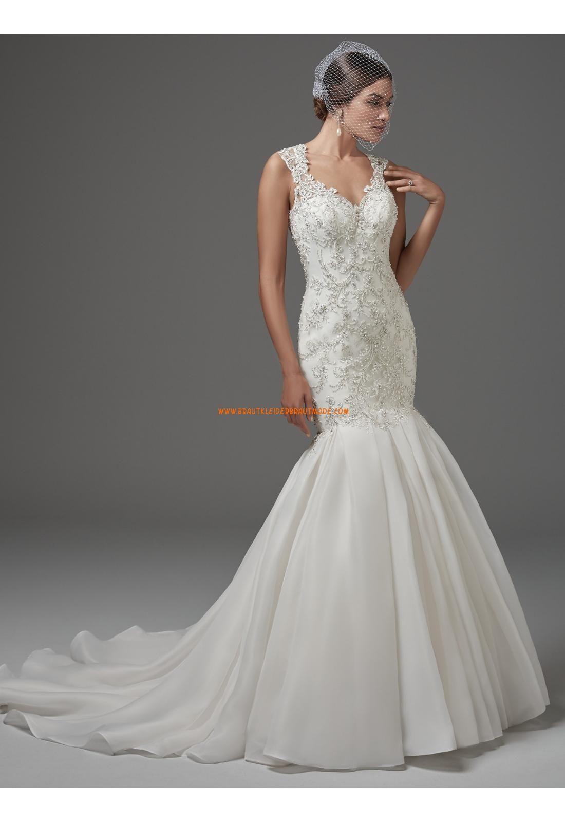 Außergewöhnliche Luxuriöse Glamouröse Brautkleider aus Satin mit ...