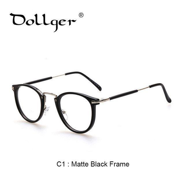 c381dcdfc2 Dollger Glasses Frame Retro Full Rim Gold Eyeglass Frame Vintage Spectacles  Round Computer Glasses Unisex NO Degrees s1274