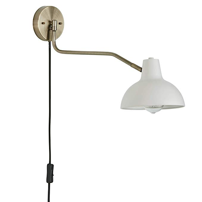 Rivet Industrial Swiveling Arm Plug In Hardwire Or 2 In 1 Option Wall Sconce Light With Bulb 11 4 Sconce Lighting Swing Arm Wall Lamps