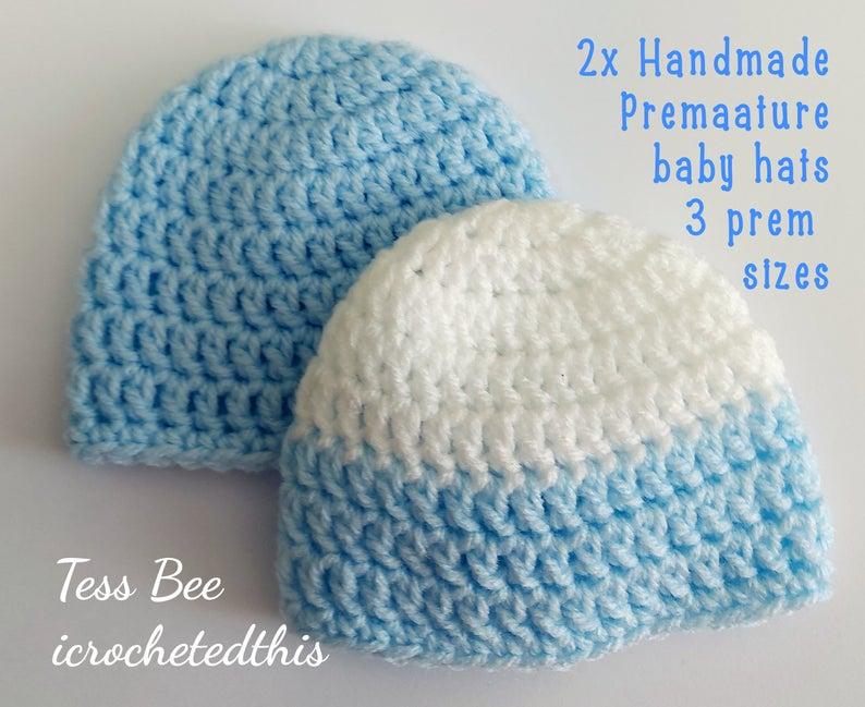 Handmade Crochet Newborn Baby Beanie Baby Boy and Baby Girl Hat Crochet Doll Hat Preemie Hats