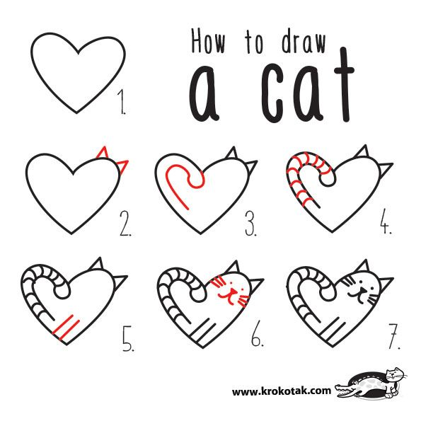 The Love Cats Valentines Day Drawing Valentine Drawing Valentines Day Cat