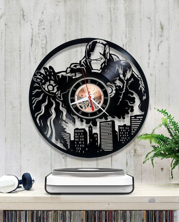 Hi Everyone For Sale Is A Clock Made From An Old Vinyl Record I Have Many Other Designs Please Check My Listings Measures 30 Cm Or Ideias Relogios Vinil