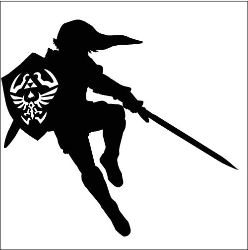 Link Silhouette By Ba Ru Ga On Deviantart Silhouette Template Zelda Logo Silhouette