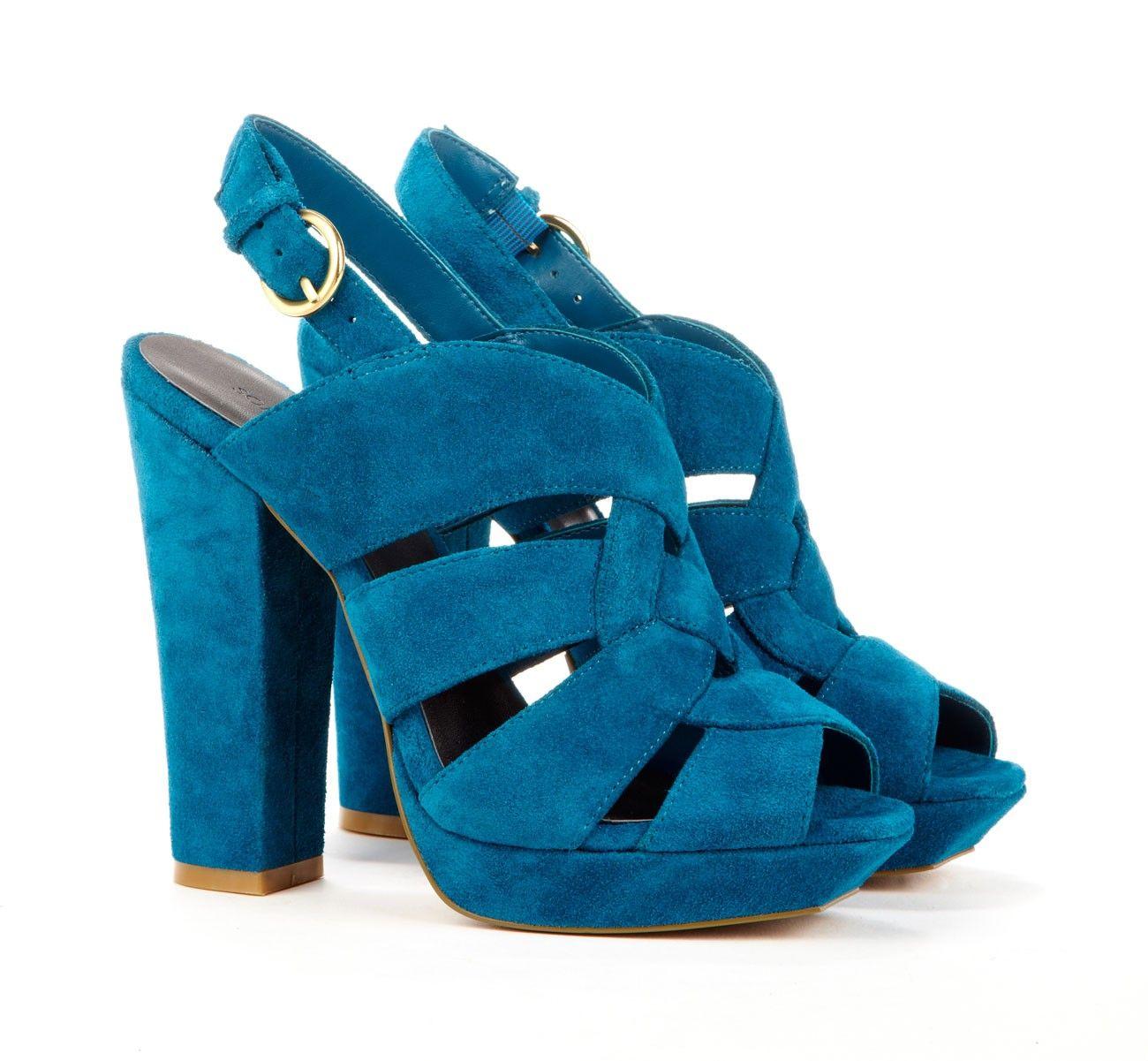 7b5b22191a Genuine suede platform slingback with buckle closure | Shoes heels ...