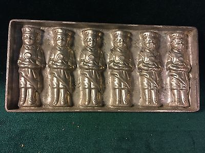 6 Bakers-Chefs Flat Chocolate Mould Mold~Anton Reiche, Dresden #784