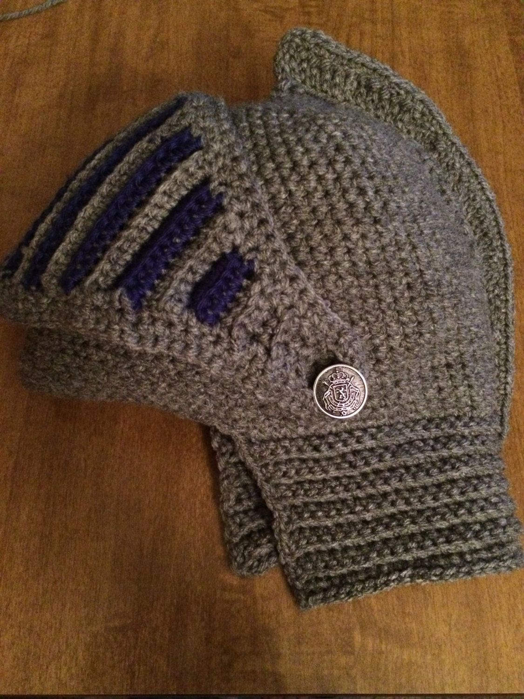 Knights Helmet For Adults Crochet Pattern Crochet Beanie Hat
