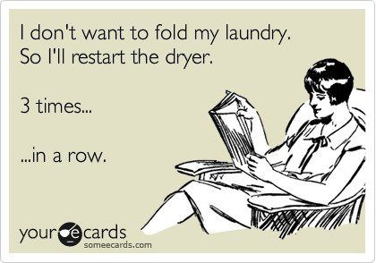 LOL... This is so me :) but I throw a damp cloth in with mine!