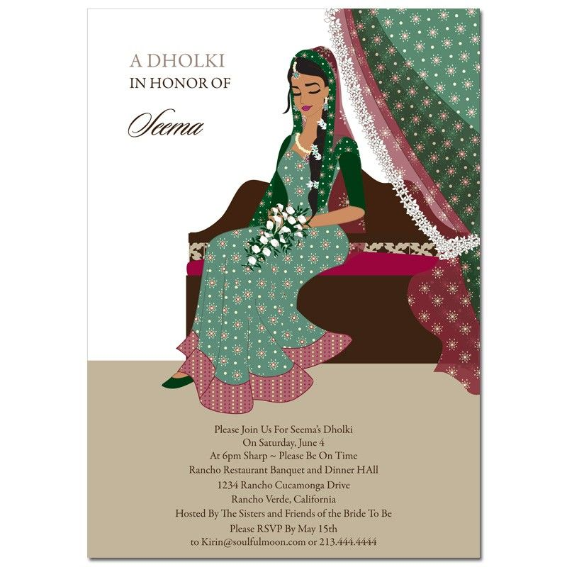 Indian Bridal Shower Invitations From Soulfulmoon Meet Our Dainty Diva Elegant Amp Sophisticated Indian Bridal Shower Indian Bridal Bridal Shower