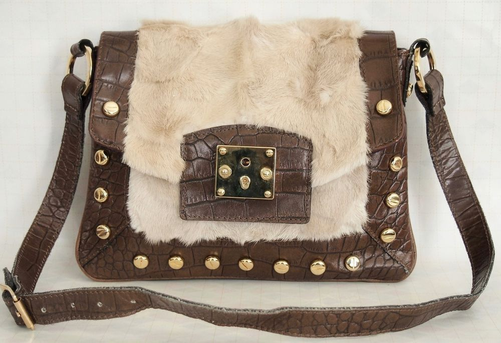 29731a3476 FACONDINI Handbag Genuine Mink Brown Leather  Facondini  ShoulderBag