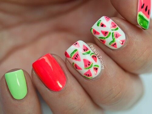 Watermelon Nail Design - Watermelon Nail Design Нігті Pinterest Watermelon Nail Designs