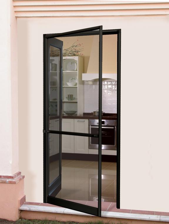 Mosquitera de puerta abatible con marco puertas en 2019 for Ventanas de aluminio con marco de madera