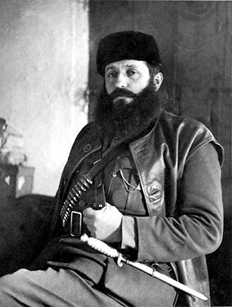 Aris Velouchiotis, founder and captain of The Greek People's Liberation Army (ELAS), the military arm of the left-wing National Liberation Front (EAM) during the period of the Greek Resistance.