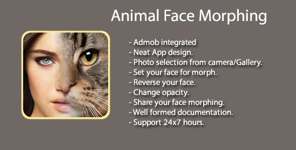 FotoMix Animal Face Morphing Animal faces, Mobile app