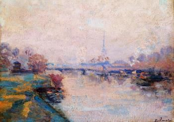 The Banks of the Seine at Paris - Armand Guillaumin - The Athenaeum