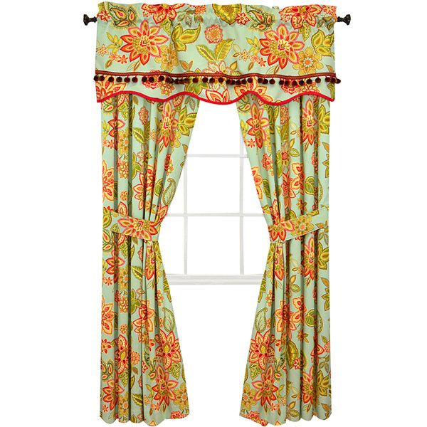 Waverly Charismatic Honeysuckle 2 Pack Curtain Panels Jcpenney