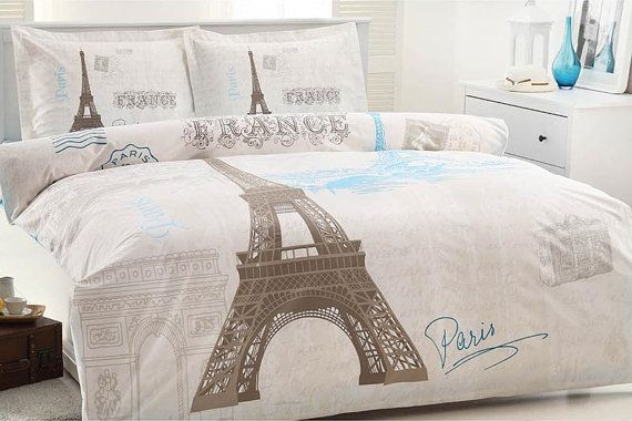 Hey, I found this really awesome Etsy listing at https://www.etsy.com/listing/189313914/100-cotton-queen-twin-paris-eiffel-tower
