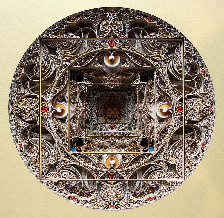 Dewi Sri Artist Eric Standley He Creates Beautiful Pieces Of - Beautiful laser cut paper art eric standley