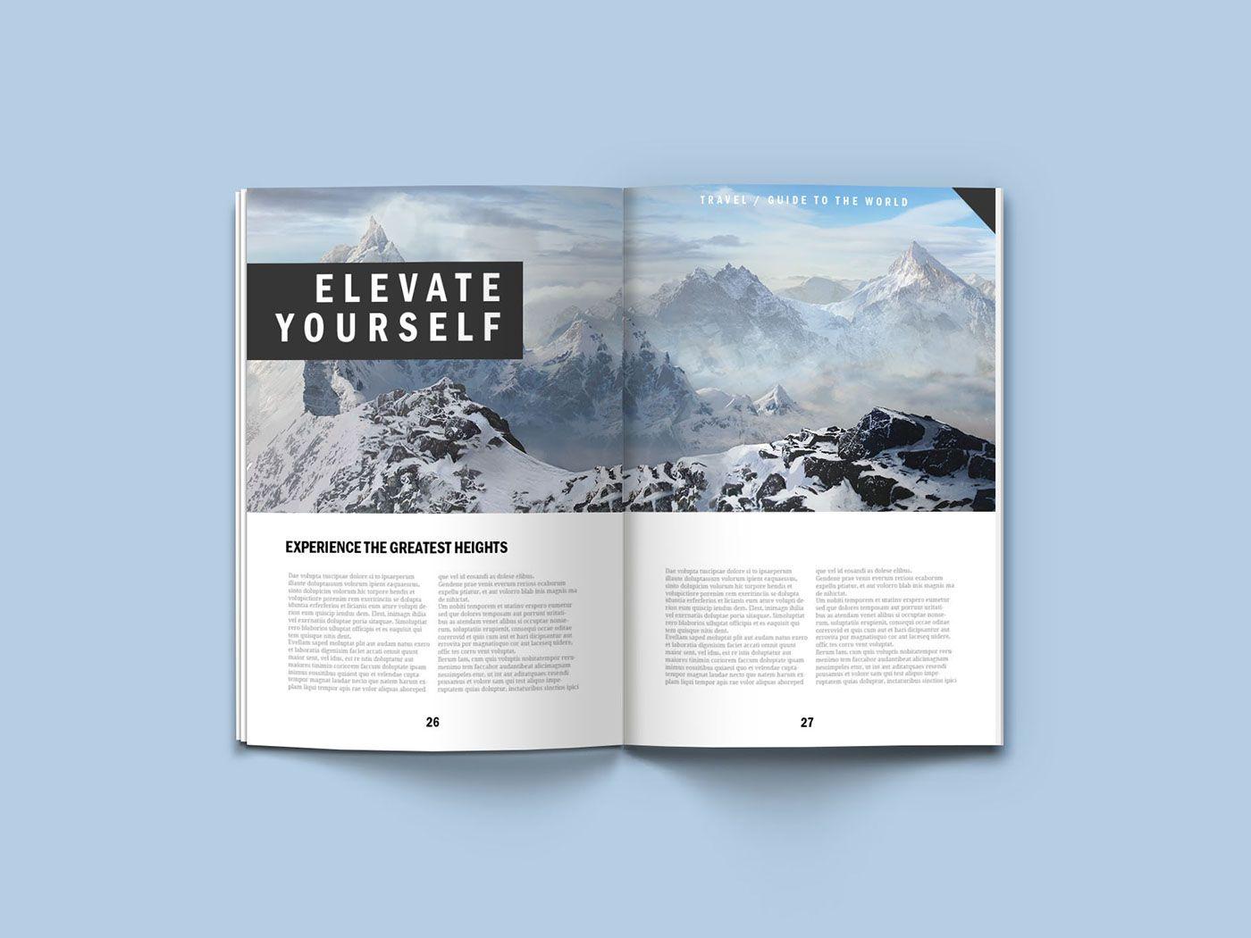 A4 Magazine Mock Up Free On Behance Magazine Mockup Magazine Mockup Psd Magazine Mockup Free