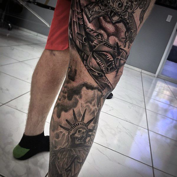 Top 103 Mind Blowing Badass Tattoo Ideas 2020 Inspiration Guide Leg Sleeve Tattoo Sleeve Tattoos Tattoos For Guys