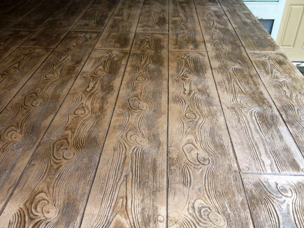 Stamped Concrete Wood Plank Pattern Wood Plank Stamped