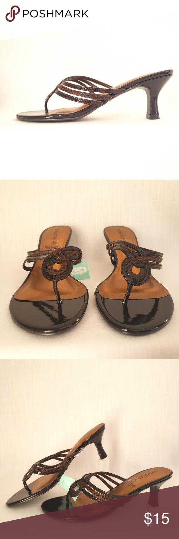 Maurice S Kitten Heel Sandal Women S Size 9 In 2020 Kitten Heel Sandals Sandals Heels Kitten Heels