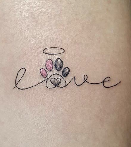Love dog, I would add my dogs paw print for a nice memory touch