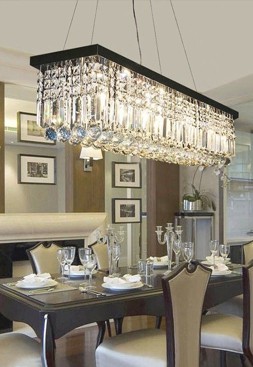 Rectangular Crystal Chandelier Dining Room Crystal Chandeliers Dining Room Lighting Dining Chandelier Dining Lighting