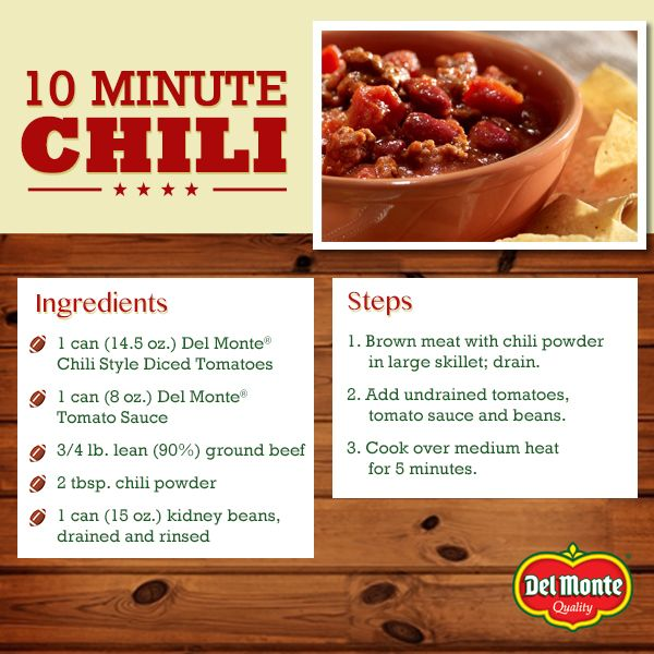 10 Minute Chili Food Foods With Gluten Recipes