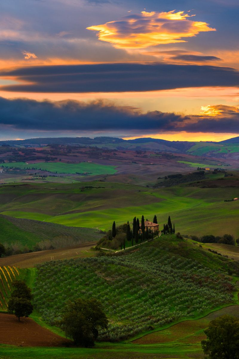 The Belvedere - Val d'Orcia Region, Tuscany, Italy