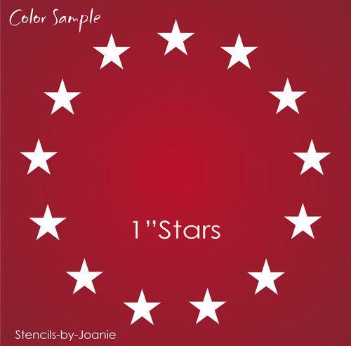 Americana Stencil 13 1 Circle Stars Patriotic Betsy Ross Flag