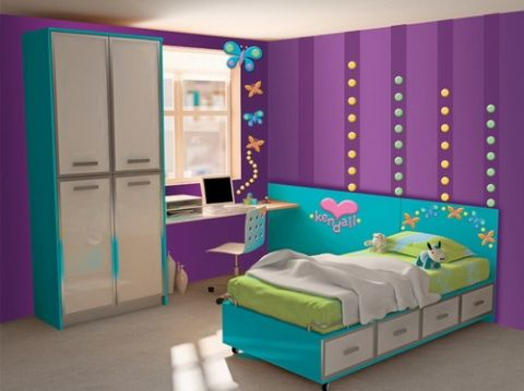 Bedroom Decor For Girls girls' purple bedroom decorating ideas @krysee mccaughey altrows