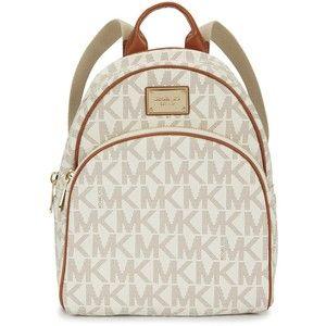 3560408fbec90d ... australia michael kors cream printed grained leather backpack 7ef1d  4bd62