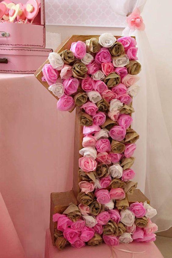 Ideas para fiestas minnie mouse dorado y rosa mesa de for Decoracion de cumpleanos rosa y dorado