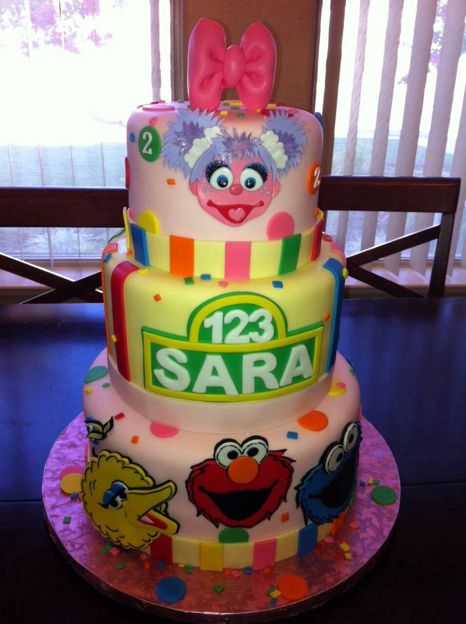Image Result For Girls Sesame Street Cake With Fondant Faces With