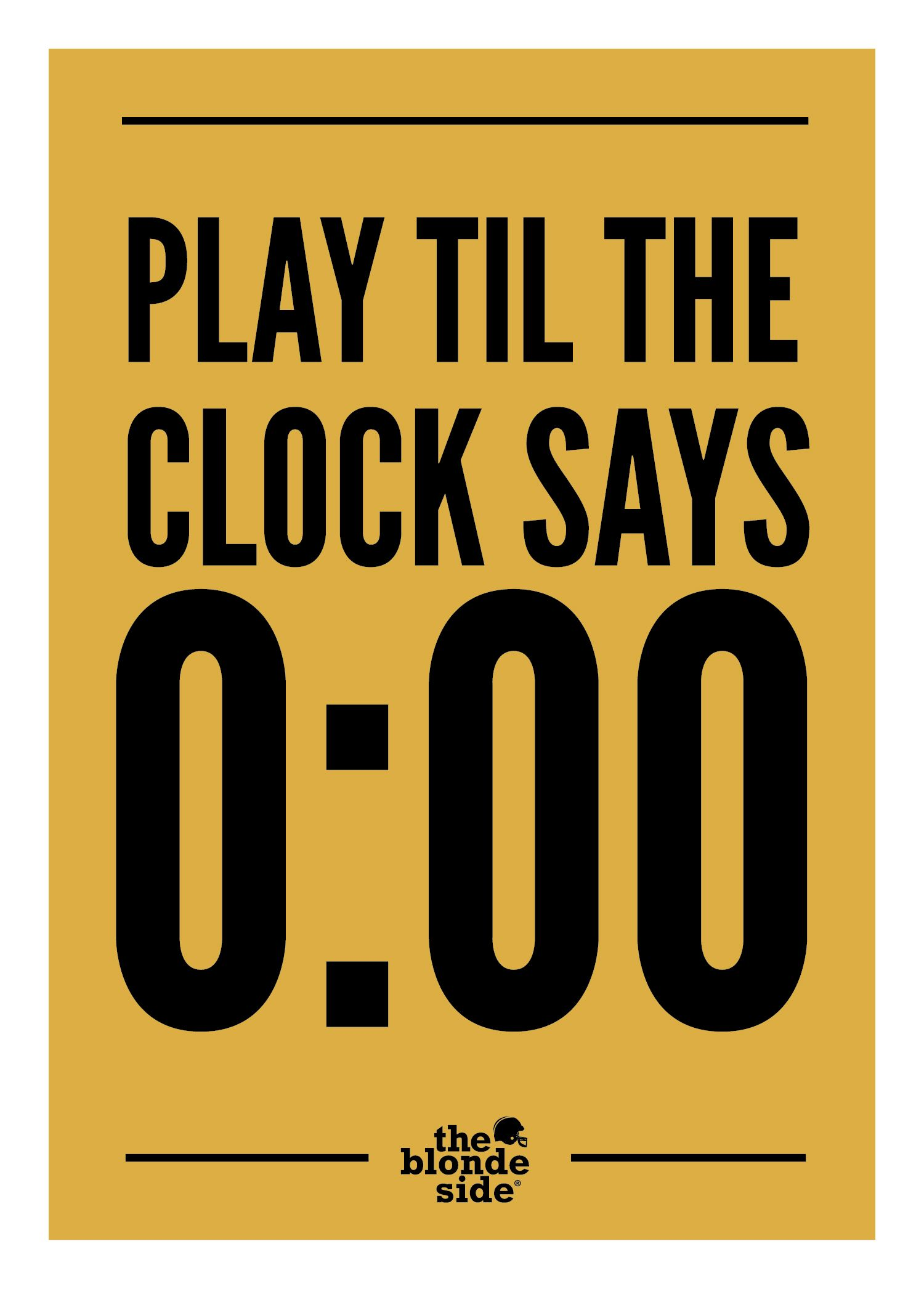 ALWAYS play til the clock says 000, sports quotes