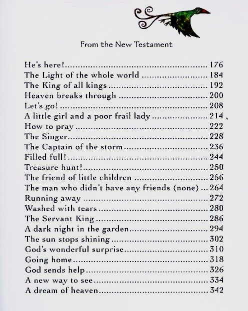 Table Of Contents New Testament The Jesus Storybook