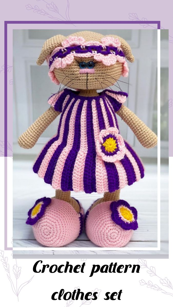 Crochet pattern Lavender clothes set Crochet tutorial for   Etsy