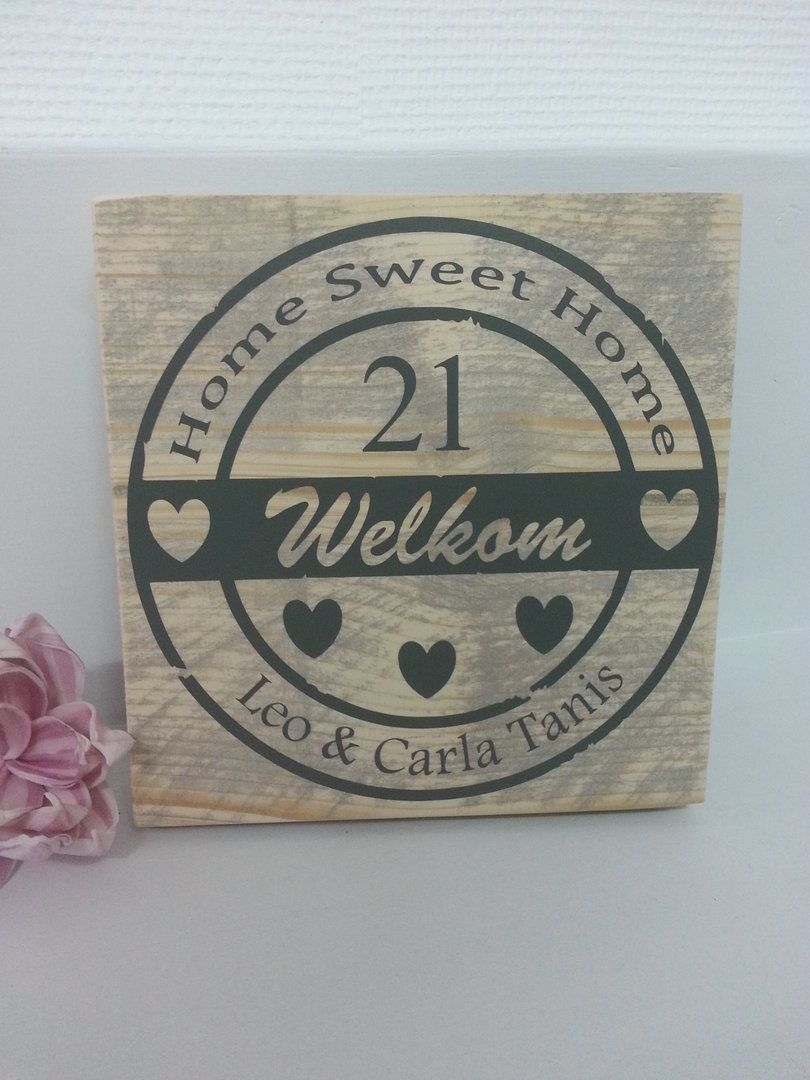 Bedwelming steigerhout naambord | Naambord deur | Pinterest | Home, Diy wood #WW12