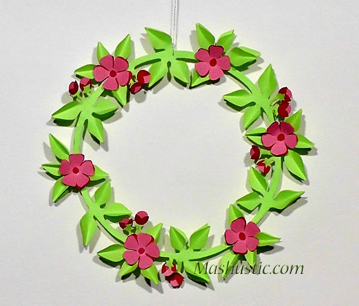 Kids Crafts Easy Paper Wreaths Mashustic Paper Flowers And