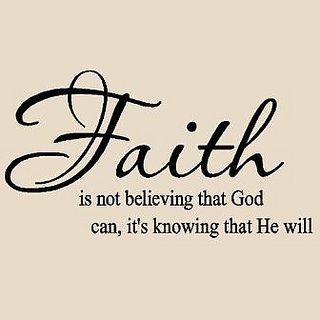 Faith in His Word