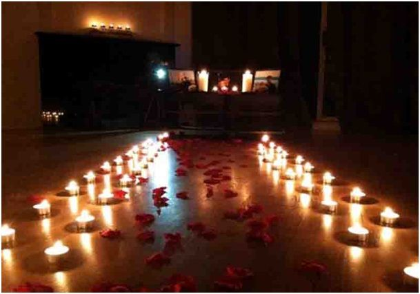 Photo of candle path surprise