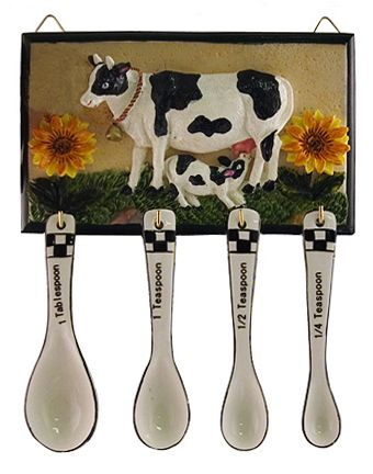 Measuring Spoons Cow Kitchen Decor