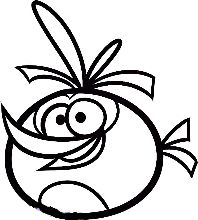 Orange bird angry birds coloring pages
