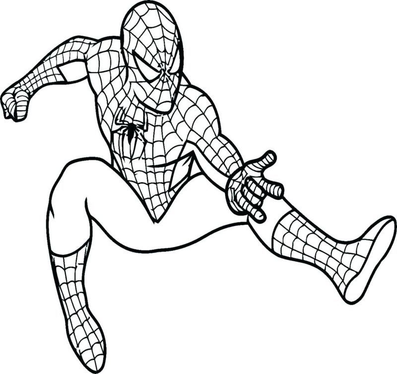 Spiderman Pictures To Color Name Designs Trend