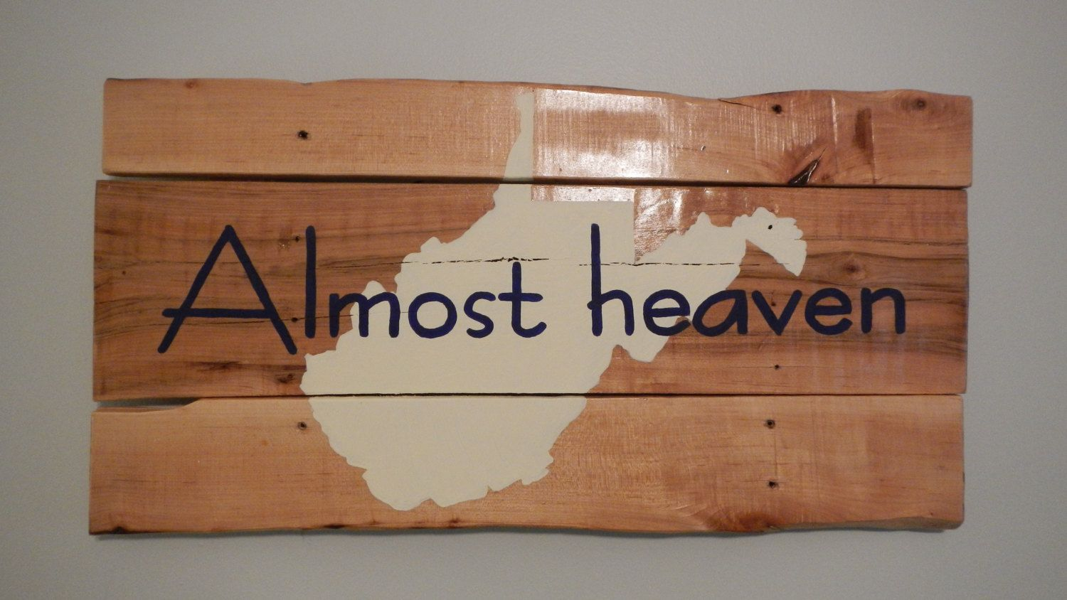 Almost Heaven West Virginia reclaimed pallet wood sign   Almost ...