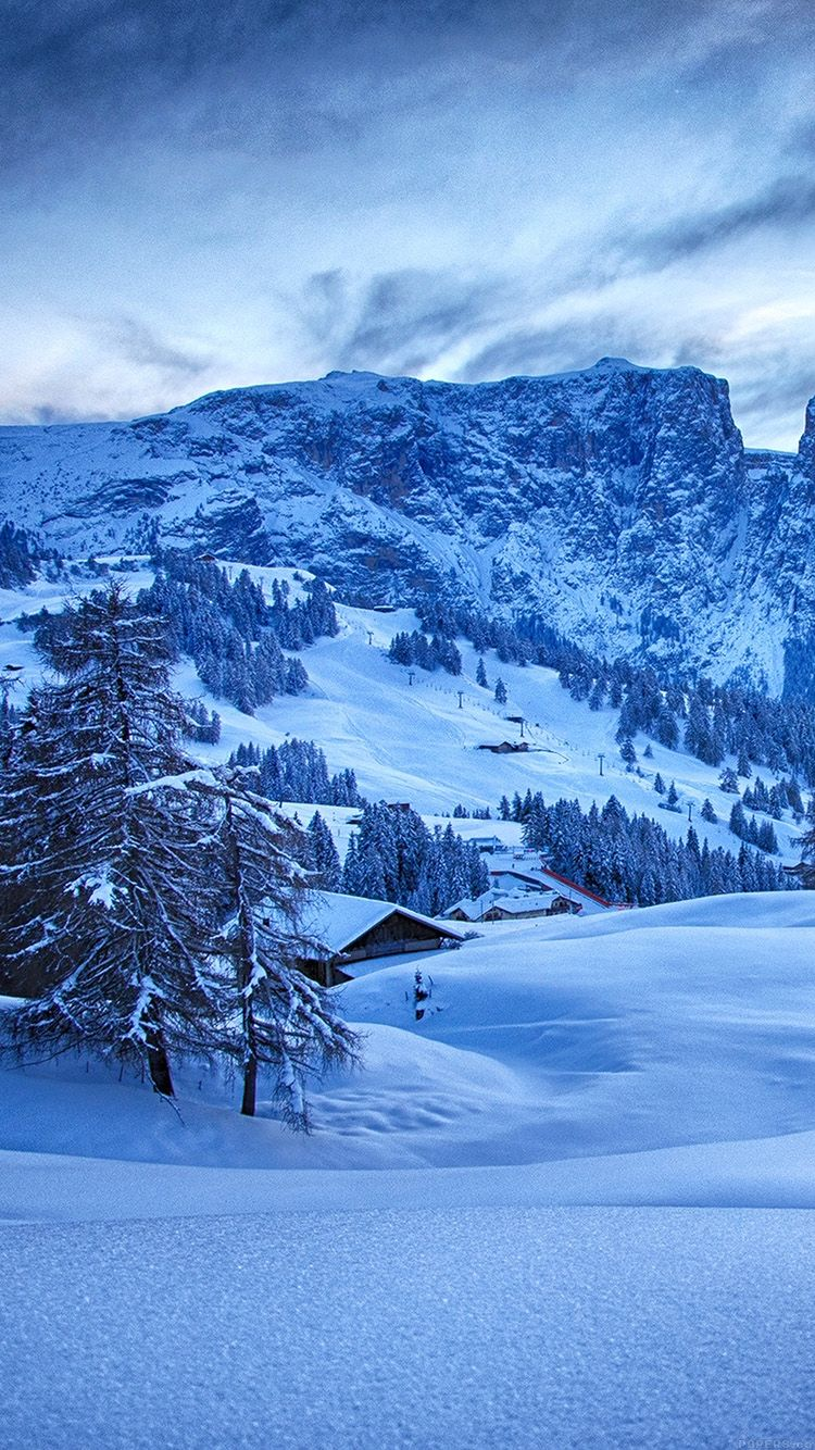 mr44 mountain blue snow winter nature ski wallpapers iphone